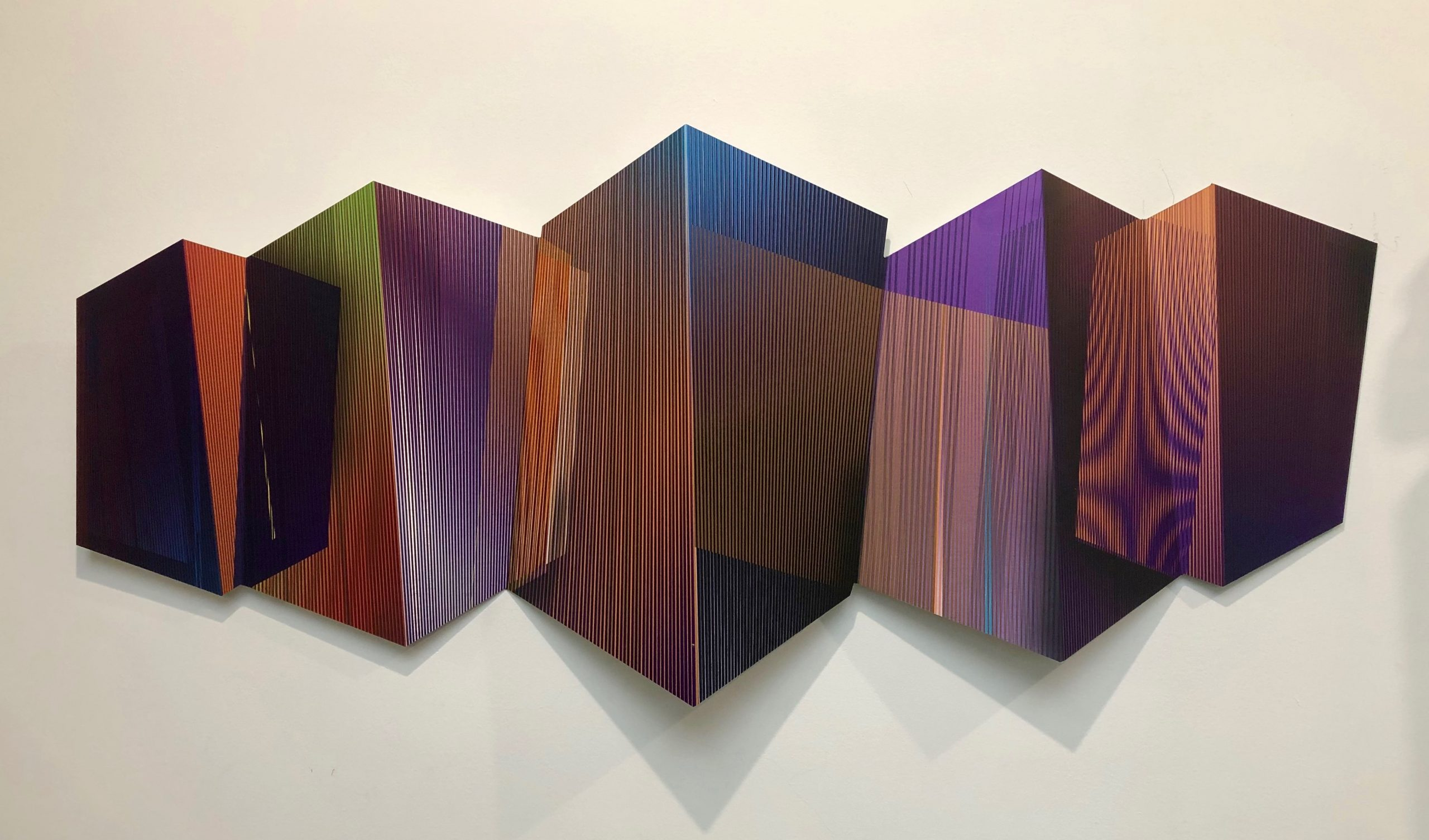 Melting incomplementary purple 60 x 150 cm. 2